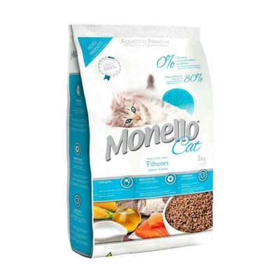 Makanan kucing (kitten) Monello Cat Fillhotes Kitten 1 Kg