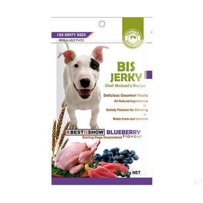 Snack Anjing BIS Jerky Blueberry