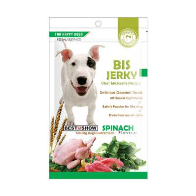 Snack Anjing BIS Jerky Spinach