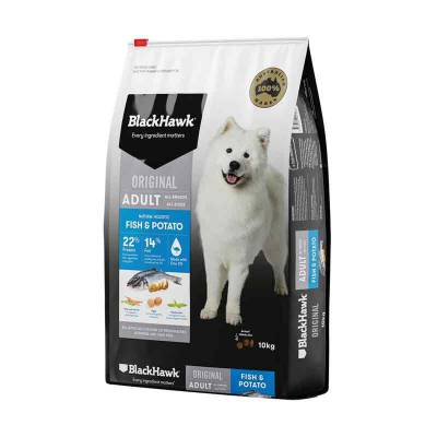 Makanan Anjing Blackhawk Dog Adult Fish & Potato 3 Kg