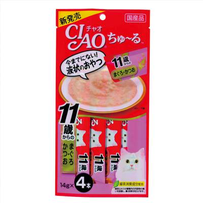 Cemilan Kucing CIAO Liquid Snack Tuna with Collagen 56 gram
