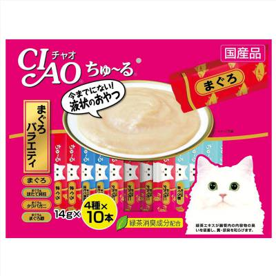 Cemilan Kucing CIAO Liquid Snack Tuna Variety 40 Pcs Series I