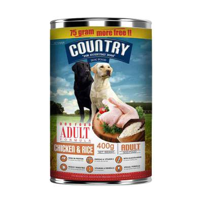 Makanan Anjing Country Chicken & Rice 400 gr