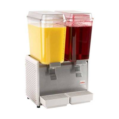 Juice Dispenser Double Bowl 19L (SS Slide) Tipe D255-3 Crathco