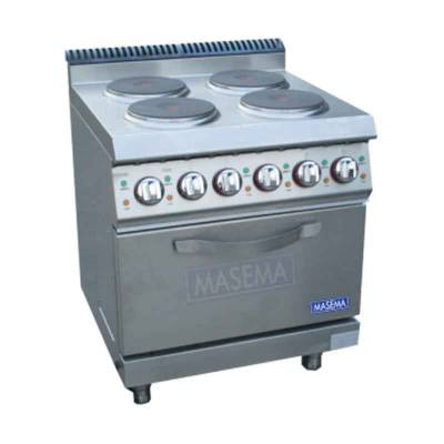 Electric 4 Hot Plate With Oven Model MS-E-DSJ 700 Masema