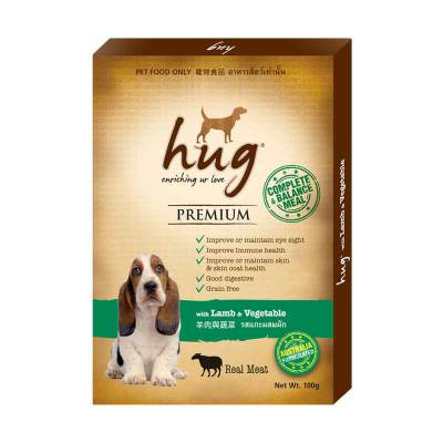 Makanan Anjing Hug with lamb and vegetable 100 gram