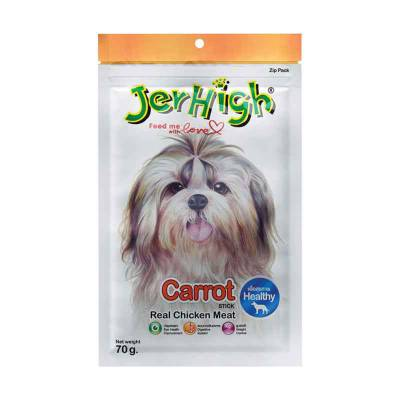 Snack Anjing Jerhigh Carrot Stick 70 gram