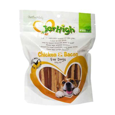 Snack Anjing Jerhigh Chicken and Bacon 100 gram