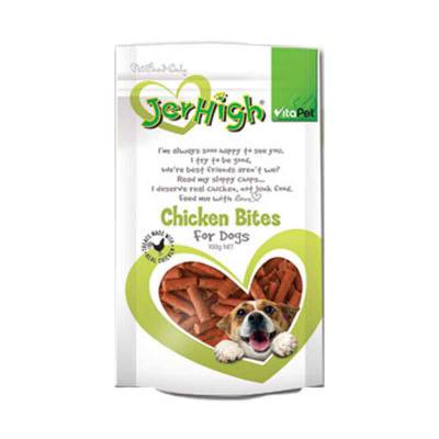 Snack Anjing Jerhigh Chicken Bites 100 gram