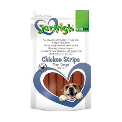 Snack Anjing Jerhigh Strips 200 gr