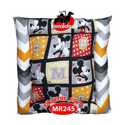 Kasur Anjing M 75X75CM Motif MR245 Mickey Square Pet Bed