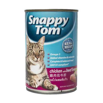 Makanan Kucing Snappy Tom Chicken With Beef Liver 400 gram