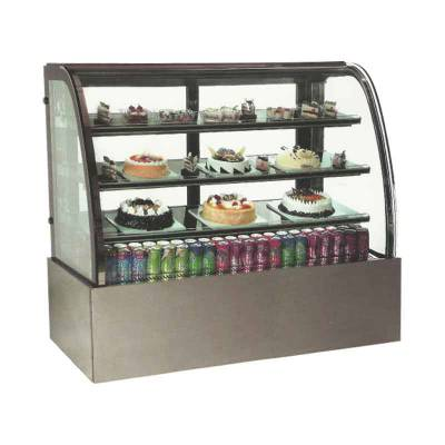 Curve Cake Showcase Stainless Steel/Alat Display Kue Model MS-CCS180 Masema