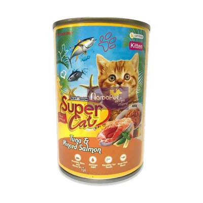 Makanan Anak Kucing Super Cat Tuna & Minced Salmon for Kitten