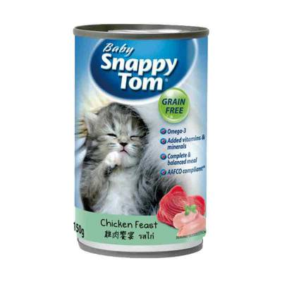 Makanan Kucing Snappy Tom Baby Chicken Feast 150 gram