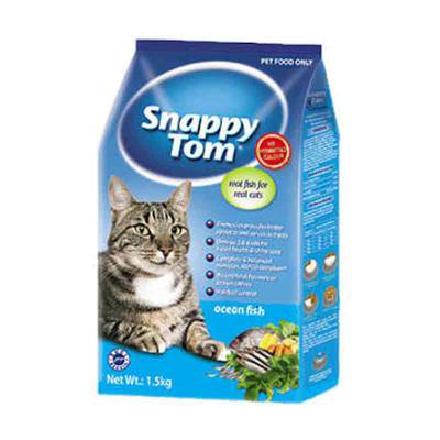 Makanan Kucing Snappy Tom Ocean Fish Dry Food 1,5 Kg