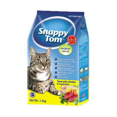 Makanan Kucing Snappy Tom Tuna with Chicken & Vegetables 1,5 Kg