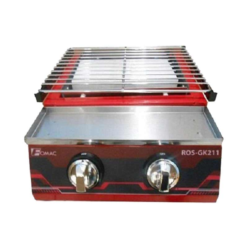Pemanggang Daging Tanpa Asap/ Gas Roaster Model ROS-GK211 2 Tungku FMC