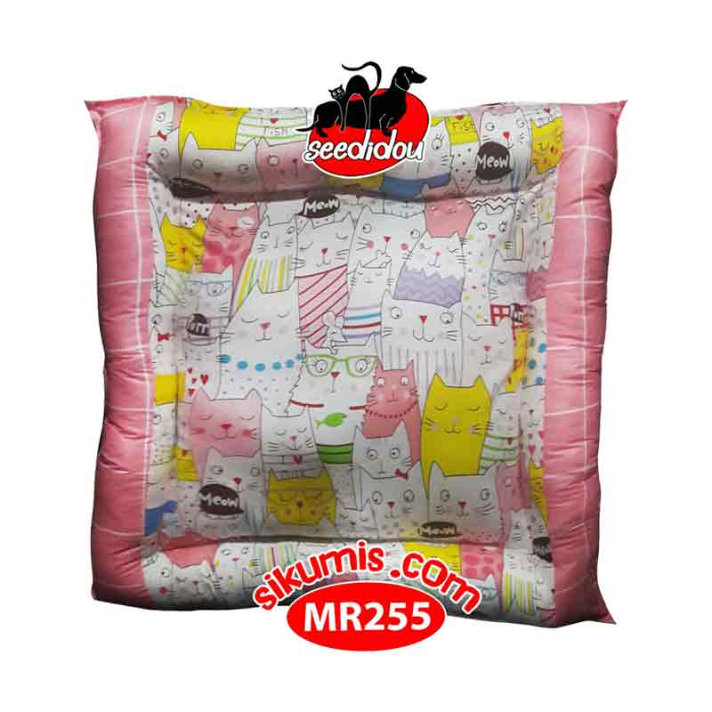 Kasur Anjing M 75X75CM Motif MR255 Cat Kingdom Pet Bed